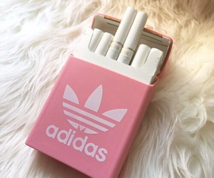adidas, pink, and cigarette image