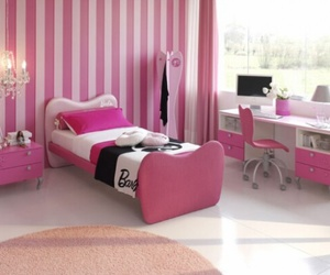 pink, barbie, and room image