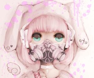 anime girl, bunny, and digital art image