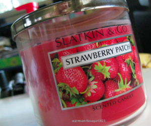 candle, candles, and strawberry image