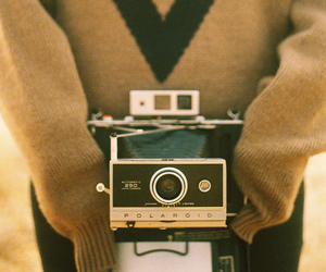 vintage, girl, and camera image