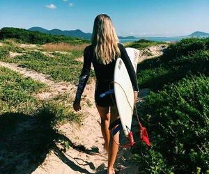 summer, girl, and nature image