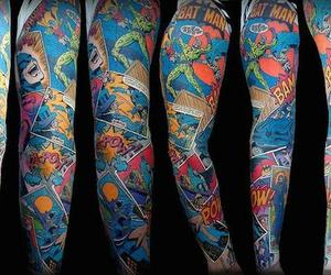 batman, tattoo, and tattoosleeve image