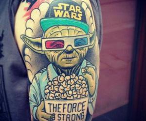 tattoo, star wars, and yoda image
