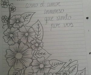 dibujo, flores, and rock image