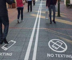 street, texting, and walk image