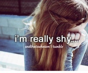 quote, shy, and andthatswhoiam image