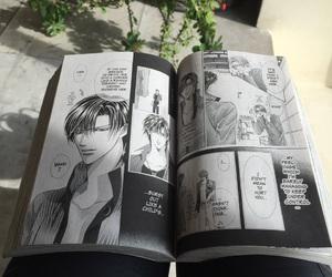 blackandwhite, girl, and manga image