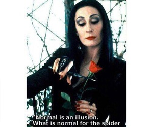 illusion, Morticia Addams, and quote image