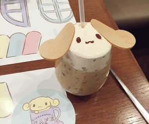cafe, cinnamoroll, and cappuccino image