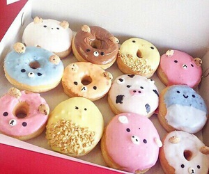 animals, donuts, and food image