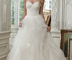 ball gown, dress, and sweetheart image