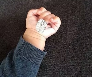 baby, ring, and diamond image