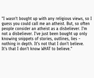 atheist, belief, and religious image