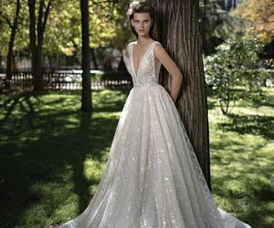 glamour, wedding dress, and fashion image