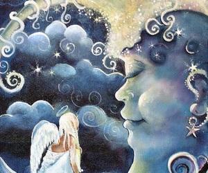 angel and moon image