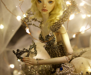 cinderella, doll, and gold image