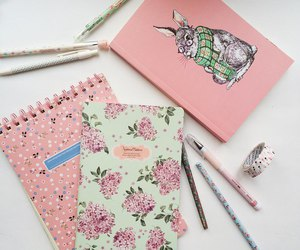 inspiration, pink, and stationery image
