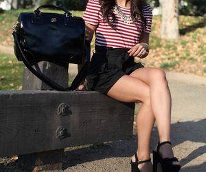 bags, heels, and lady image