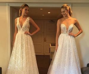 fashion, romance, and wedding dress image