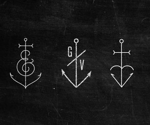 anchor, tattoo, and art image