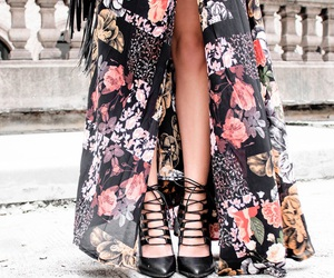 dress, nyfw, and floral skirt image