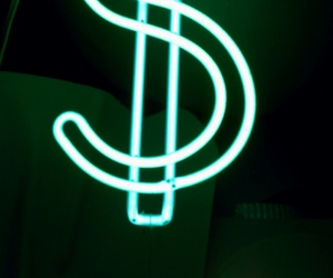 green, neon, and dollar image