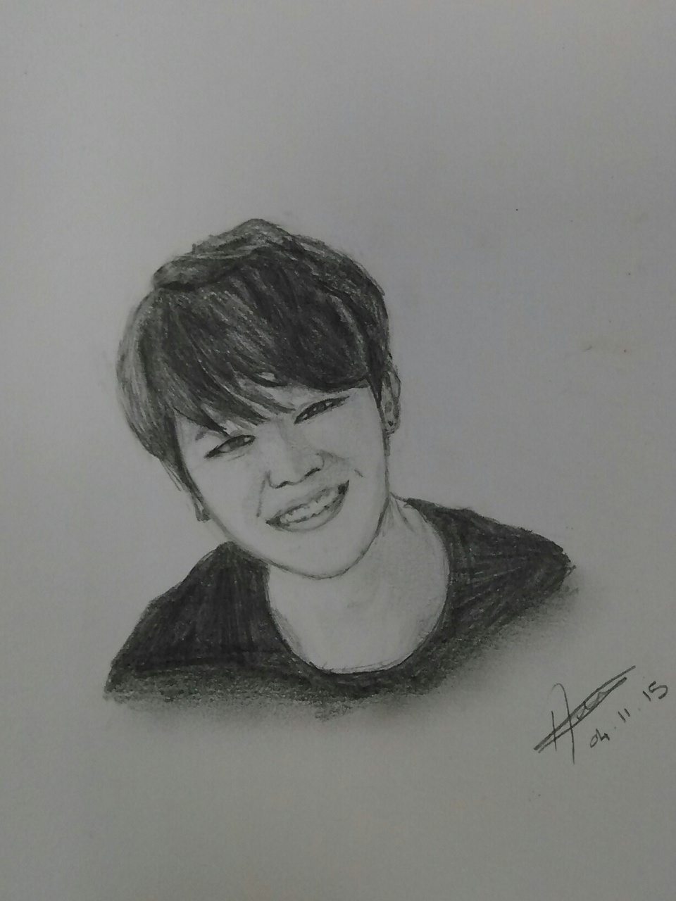Park Jimin S Drawing Bts On We Heart It