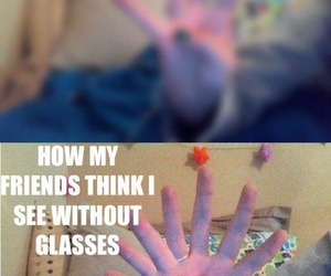 funny, glasses, and friends image