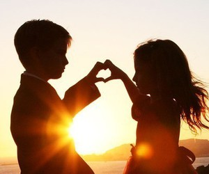children, heart, and love image