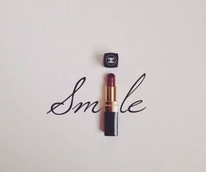 chanel, happy, and lipstick image