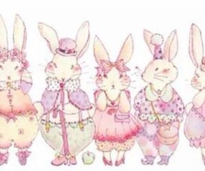 illustration and rabbit image