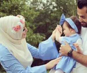 baby, family, and blue image
