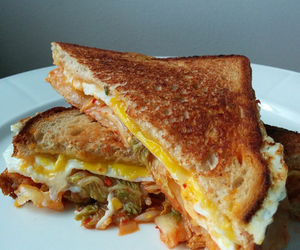 cheese, sandwich, and eat image