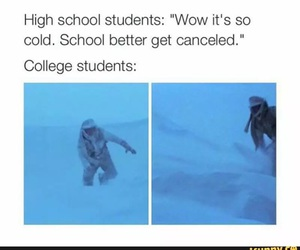 cold, college, and high school image