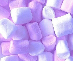 marshmallow, blue, and pink image