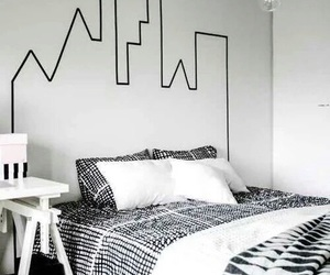 black and white, diy, and rooms image