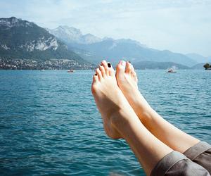 legs, nature, and sea image