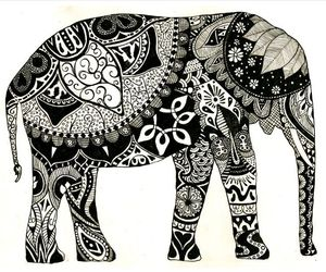 elephant, animal, and art image