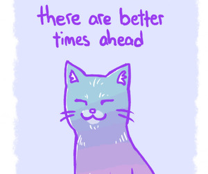 cat, quote, and positive image
