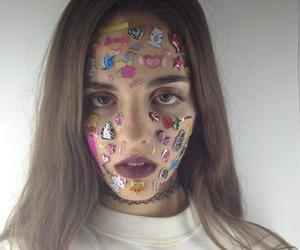 beautiful, make-up, and sad image