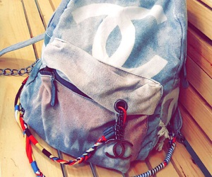 backpack, chanel, and colors image