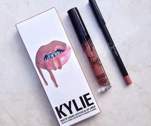 kylie, lipstick, and kylie jenner image