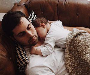 baby, dad, and papa image