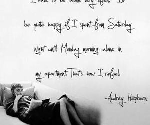 quotes, audrey hepburn, and alone image