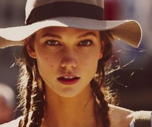 model, Karlie Kloss, and hat image