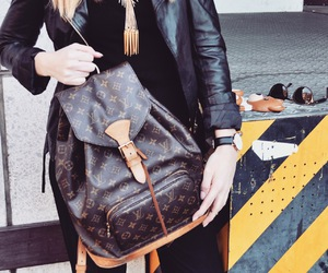 backpack, fashion, and Louis Vuitton image