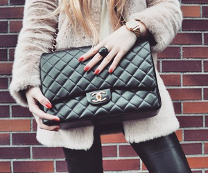 bags, hair, and fashionblogger image