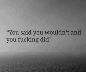 black and white, fuck you, and quote image