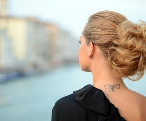 tattoo, hair, and blonde image